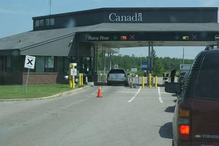 КПП на границе Канады и США