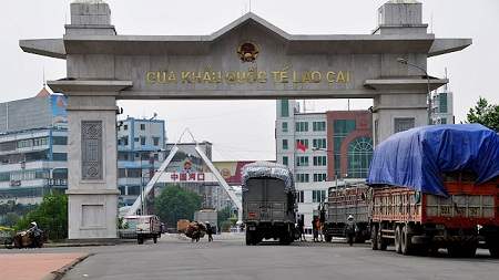 КПП Лао Кай на вьетнамо-китайской границе