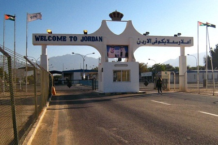 КПП на израильско-иорданской границе, недалеко от Эйлата