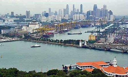 В сингапурском порту