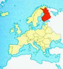 Картинки по запросу с Финляндия на карте Европы