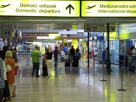 В аэропорту Загреба