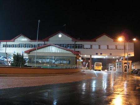 КПП в Тересполе, на границе Польши с Белоруссией