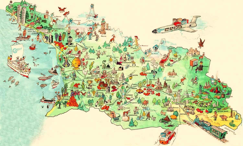 Karta Gruzii Na Russkom Yazyke Podrobnaya Karta S Gorodami I